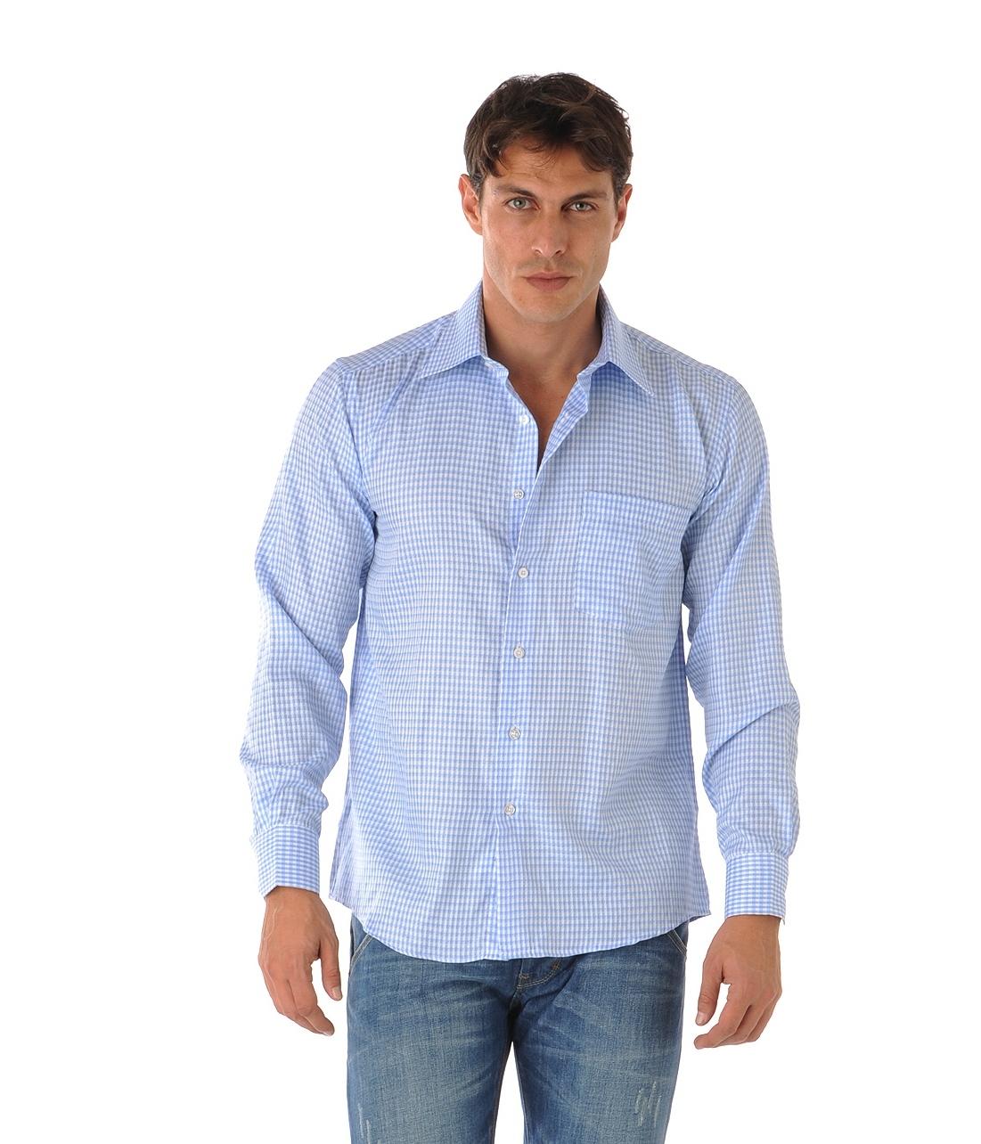 chemise bleu ciel homme faire du sur mesure. Black Bedroom Furniture Sets. Home Design Ideas