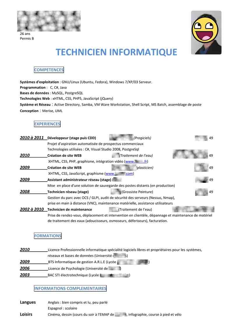 comment faire un cv pour un stage de seconde